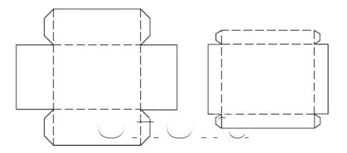Как сделать коробку и крышку из бумаги