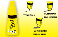 Универсальный клей UHU Twist & Glue