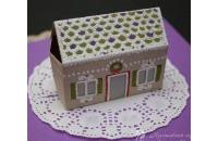 3D открытка с пряничным домиком
